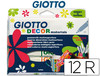 Rotulador giotto decor materials - de 12 colores surtidos