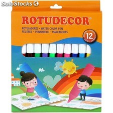 Rotuladores 12 pcs c/caja - rotudecor - 8433774553274 - WA2055327
