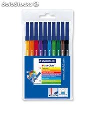 Rotuladores colores bolsa 10 uds amarillo noris club 326 staedtler