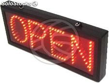 Rótulo LED DisplayMatic con mensaje OPEN rojo (LF11)