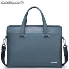 Rousseau series high-quality embossed leather men's bags shoulder bag briefcase