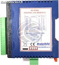 RS485 module with 8 inputs and 8 digital outputs (IO 8DIO Brainchild) (TJ03)