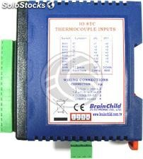 RS485 module with 8 inputs thermocouple (IO-8TC BrainChild) (TJ15)