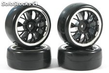 Ruedas drift negro 1:10 RC