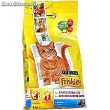 Sac 4KG croquettes chat sterilise saumon friskies