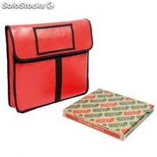 Sac transport pizza - 40 cm 43x45x13 cm rouge vinyl