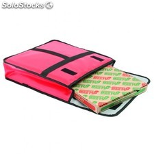 Sac transport pizza - 50 cm 49x48,5x13 cm rouge vinyl