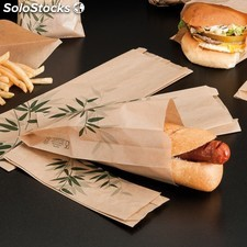 "Sachet pour sandwich ""feel green"" 41 g/M2 12+4x26 cm naturel parch.ingraissable"