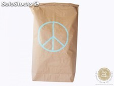 "Saco decorativo ""Living in sack"" · PEACE verde mint"