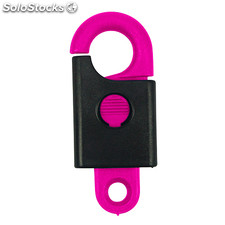 Safety Key Pendant, Pink - Neon
