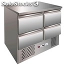 Saladette/tn refrigerated prep table - stainless steel - mod. esl3820 - static