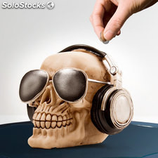 Salvadanaio Skull with Sunglasses