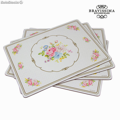 Salvamanteles bouquet juego 4 - Colección Kitchen's Deco by Bravissima Kitchen