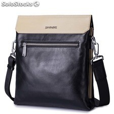 SAMMONS habsburg series men's bags contrast color single shoulder bag