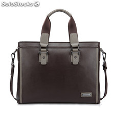 Sammons Louis series contrast color top grain cowhide leather fashion handbag