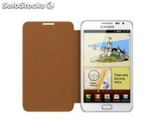 Samsung EFC-1E1F, Funda con tapa Galaxy Note color marron