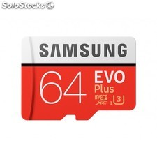 Samsung - evo Plus mb-MC64G 64GB MicroSDXC uhs-i Clase 10 memoria flash