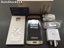 Samsung - Galaxy S6 edge 4G with 32GB Memory Cell Phone (Unlocked) - Gold
