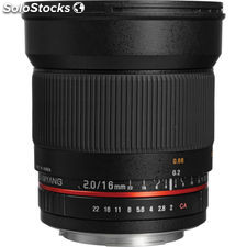 Samyang 16mm f / 2.0 ed as umc lente cs para Canon