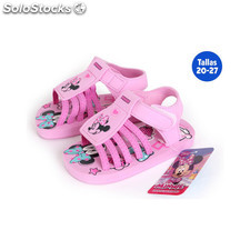 Sandalias playa con velcro minnie rosa - idealcasa kids - minnie -