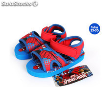 Sandalias playa con velcro spiderman - idealcasa kids - marvel -