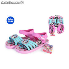 Sandalias verano niña minnie rosa - idealcasa kids - minnie - 8433774610380 -