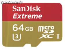 SanDisk MicroSDXC Action sc 64GB Extreme 90MBs sdsqxne-064G-GN6AA