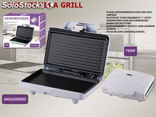 Sandwichera Grill Eléctrico Blanco We Houseware
