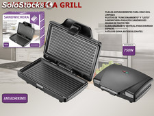 Sandwichera Grill Eléctrico Negro We Houseware