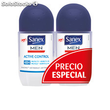 Sanex men active control 48H roll-on lote 2 pz