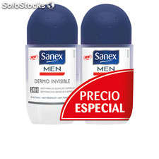 Sanex men dermo invisible deo roll-on lote 2 pz