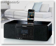 Sangean DDR-63+ Plus, receptor radio Internet WiFi, DAB+ y base para iPod
