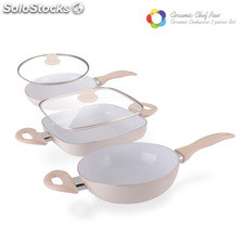 Sartenes Ceramic Chef Pan Elegance Edition (5 piezas)