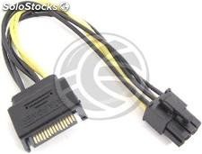 Sata Power Cable 15-pin male to 6P-h (pci Express) (CA31)
