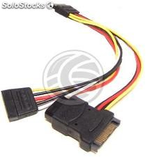 Sata Power Cable 15P-m/h to 2 x sata 15P-h (DL23)