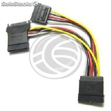 Sata Power Cable 15P-m + molex> 2 x sata 15P-h (CA97)