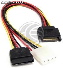 Sata Power Cable 3:00 p.m. 3:00 p.m. and molex to sata 25cm 4PM (DL27)