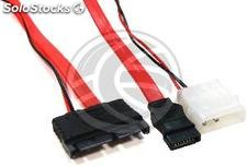 Sata Power Cable 7P9P MicroSATA to 7P4P-h-m 50cm 3.3V (DN68)