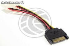 Sata Power Cable molex 3:00 p.m. to 2 4H 15cm (DL25)