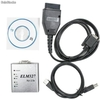 Scaner elm327 aluminio obdii, obd2 diagnosis coche multimarca v1.5a cable usb