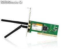 Scheda DI rete wireless PCI 300MBPS W322P 2 antenne