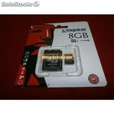 scheda micro sd 8 gb classe 10 kingston memory card