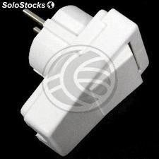 Schuko plug angled white with switch (CM47)