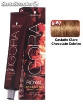 Schwarzkopf Igora Royal Opulescene 5-67 Castaño Claro Chocolate Cobrizo 60 ml.