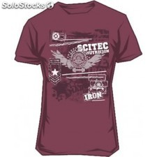 Scitec Nutrition Camiseta Made of Iron Burgundy