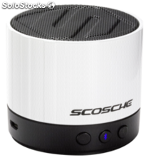 Scosche boomSTREAM Mini altavoz Bluetooth, blanco
