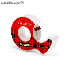 Scotch - Blister cinta Crystal + portarrollos 19mm. x 7,5m.