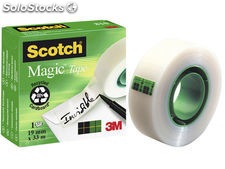 Scoth pack 14 rollos cinta adhesiva invisible 810 19x33 810pck14