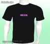 Scrolling text led t-shirt