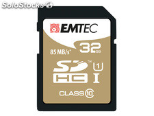 Sdhc 32GB Emtec CL10 Gold+ uhs-i 85MB/s Blister